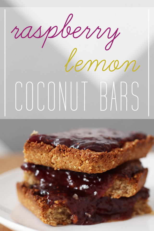 ink + adventure: raspberry lemon coconut bars