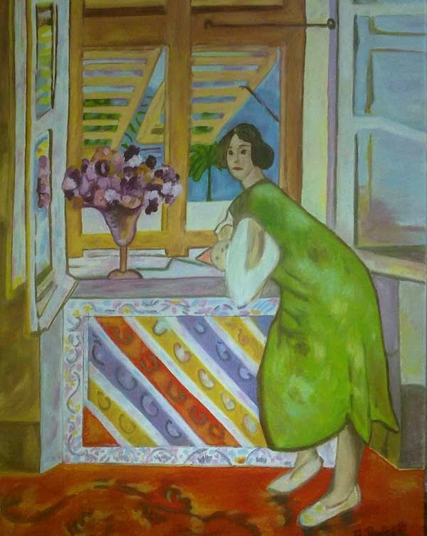 copia de Matisse, oleo sobre lienzo