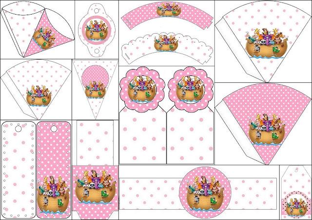 Arca de Noé para Niñas: Imprimibles Gratis para Fiestas.