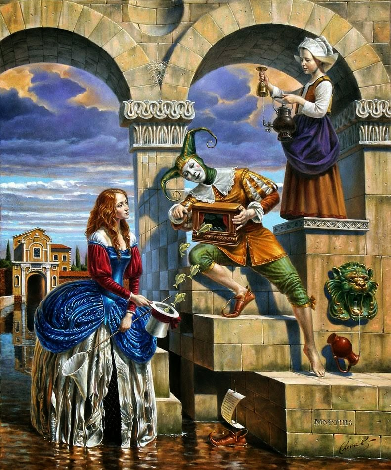 06-Michael-Cheval-Charmer-of-the-Attraction-Surreal-Absurdist-Paintings-www-designstack-co