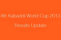 4th Kabaddi World Cup 2013 Results