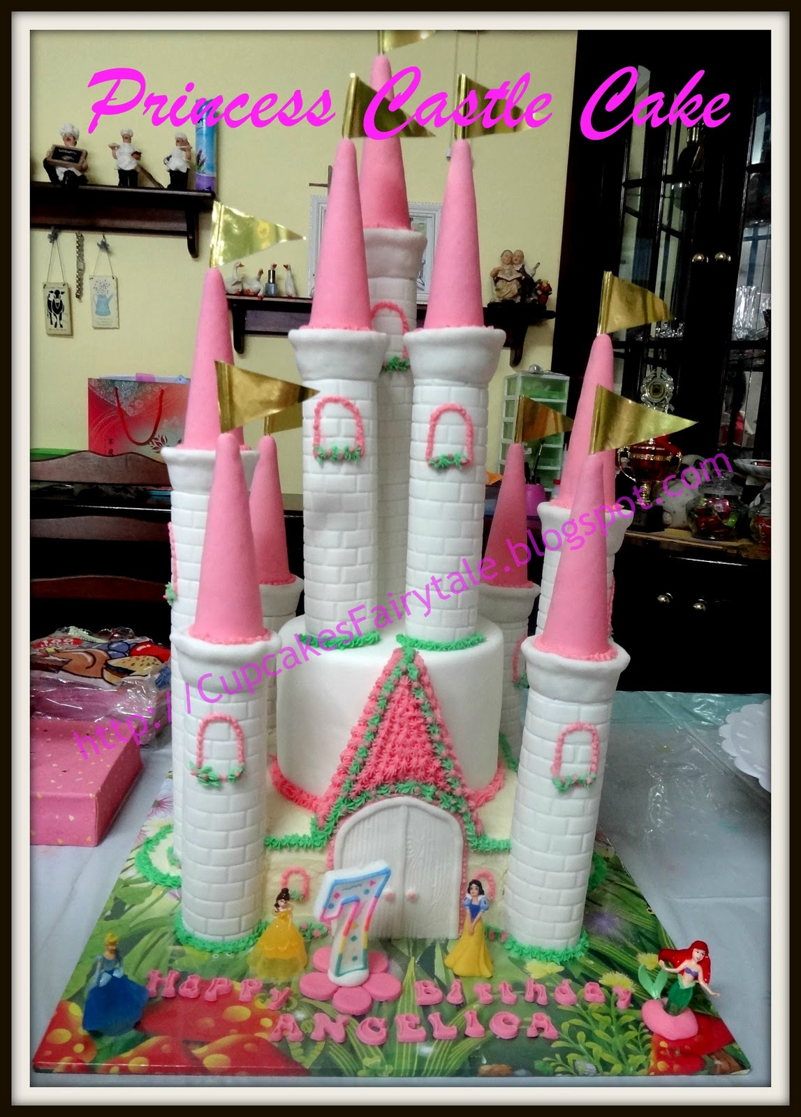 Cupcakes fairytale my daughter angelica 39 s 7th birthday for Angelica cake decoration