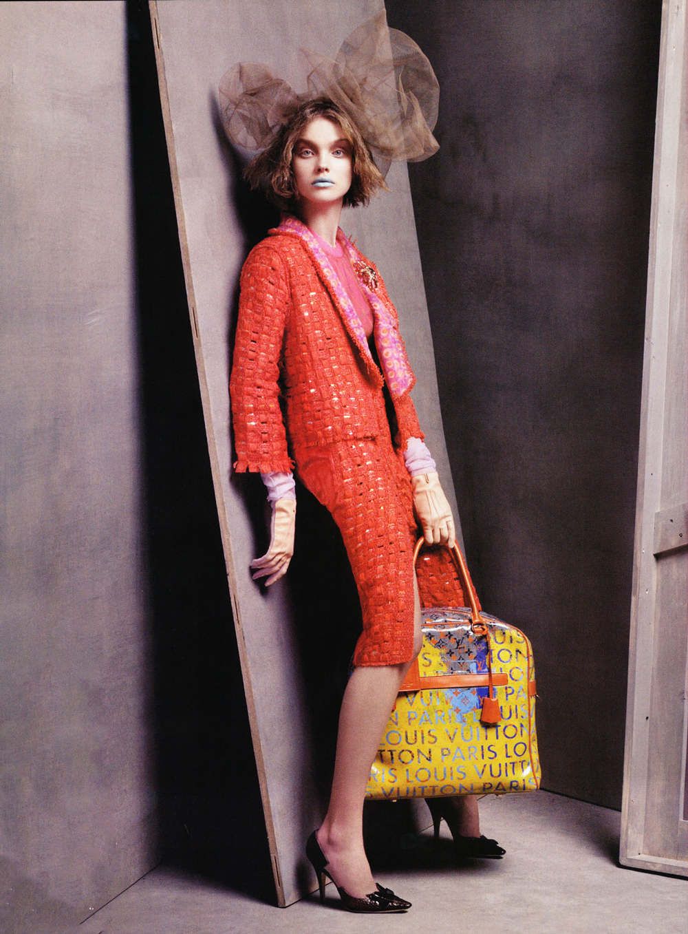 Peerless Natalia Vodianova wearing Louis Vuitton in Vogue US January 2008 (photography: Steven Meisel, styling: Grace Coddington) via www.fashionedbylove.co.uk