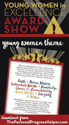 Young Women in Excellence Award Show Young Women Theme Print