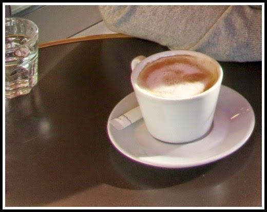 Coffee in a French cafe