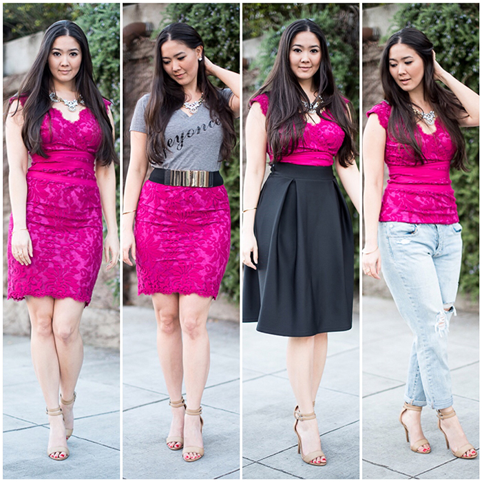 four ways to style a dress