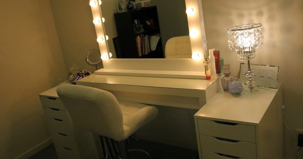 Vanity Lights Hollywood : ROGUE Hair Extensions: IKEA MAKEUP VANITY & HOLLYWOOD LIGHTS!