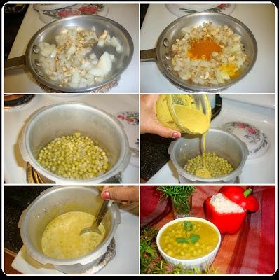 Green Peas Kurma / Pattani Kurma / Green Peas Korma Recipe