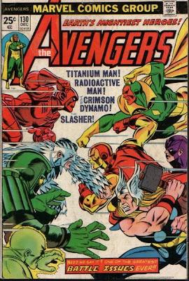 Avengers #130, Celestial Madonna, Mantis, Titanium man, Crimson Dynamo, Radioactive Man, Slasher