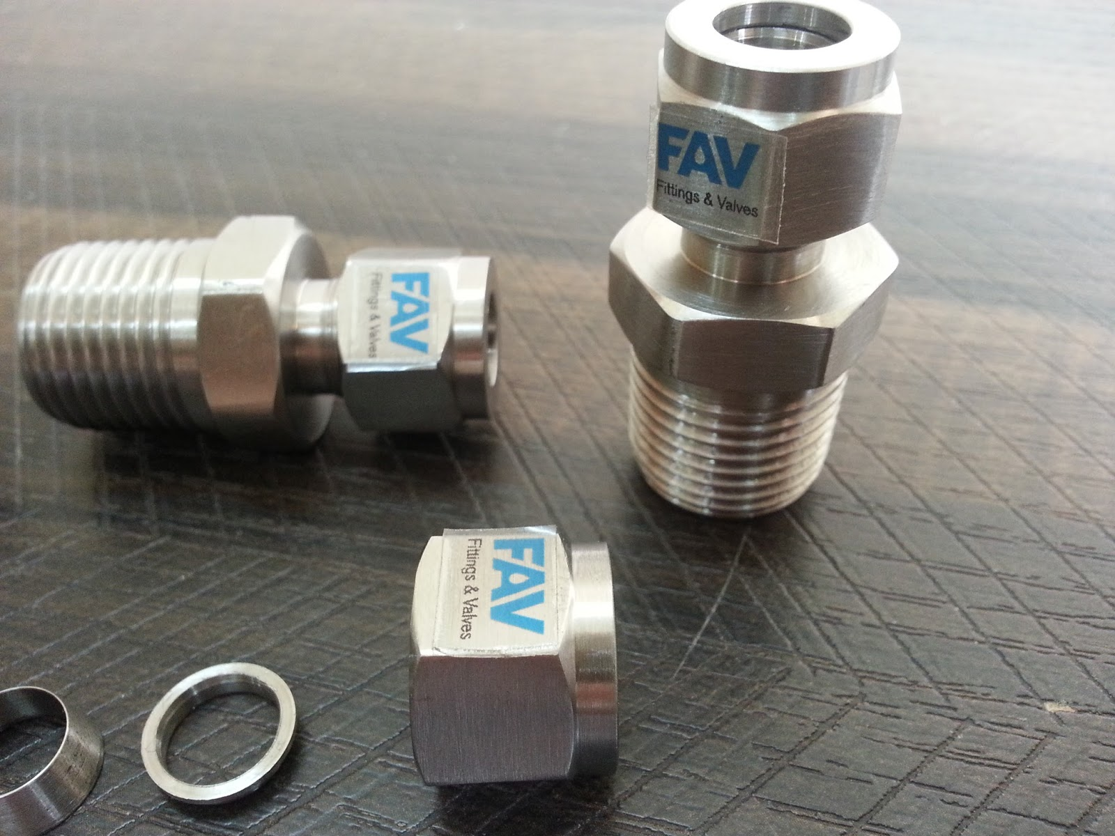 Fav monel double ferrule compression tube fittings