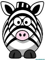 Gambar Zebra Gemuk Untuk Diwarnai