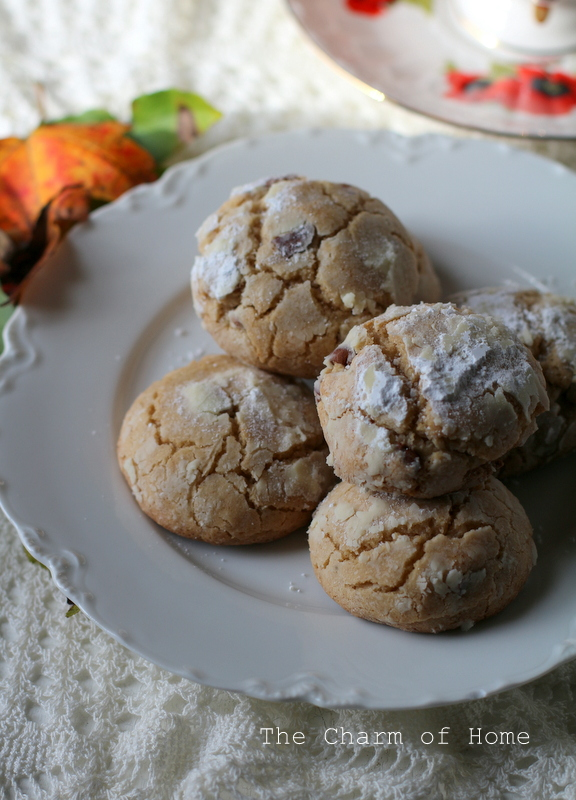 The Charm of Home: Brown Butter Cinnamon Crinkle Cookies