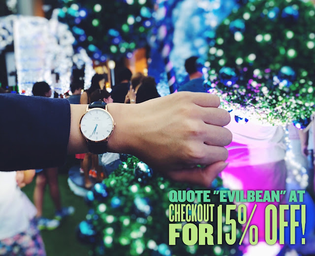 Daniel Wellington Discount Code - Singapore Blogger Evilbean