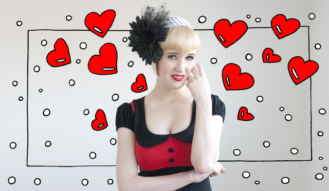 vintage, fifties, fascinator, rockabella