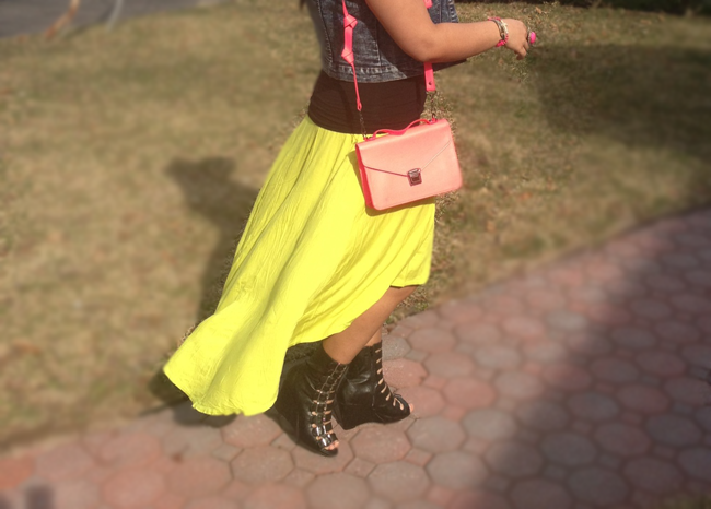 neon, blogger, fashion blogger, high low skirt, mac lipstick, neon pink, barbie pink, dominican bloggers, h&m, jeffrey campbell