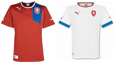 Czech Republic Home+Away Euro 2012 Kits (Puma)