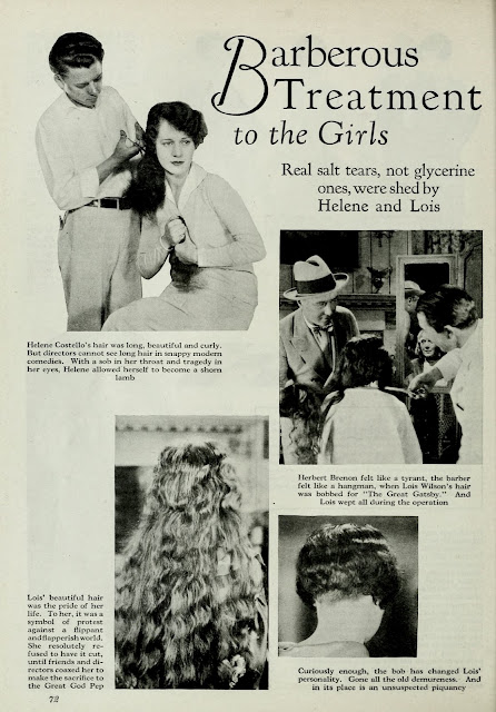helene costello lois wilson long hair flapper bob