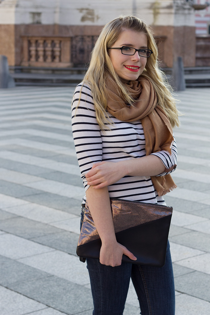 The Parisian Outfit Breton Stripes Primark Clutch Platforms