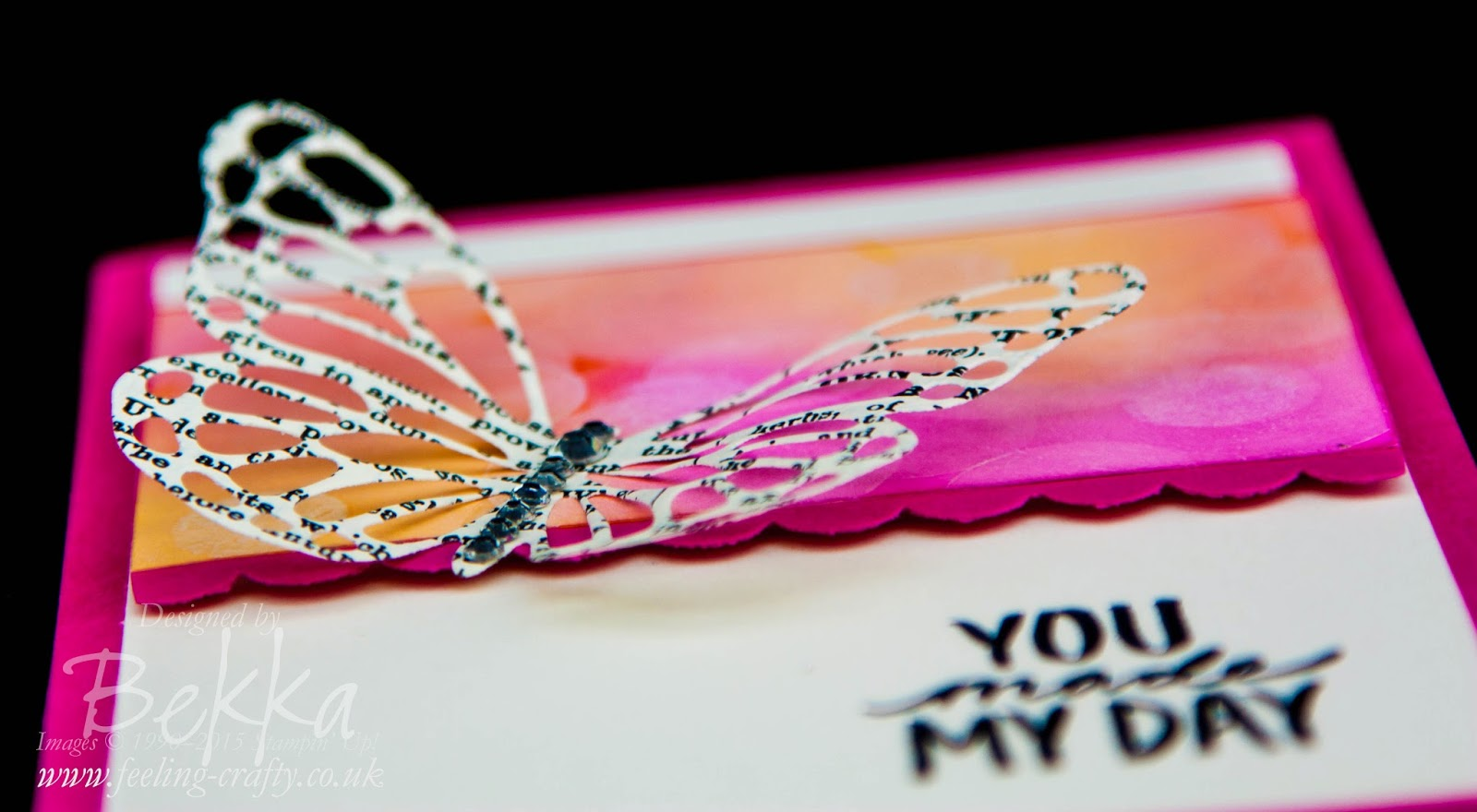 You Made My Day Butterfly Bokeh Card - all the details and a link to a tutorial here
