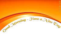 GM Pic Good Morning Orange with Awesome font Photo