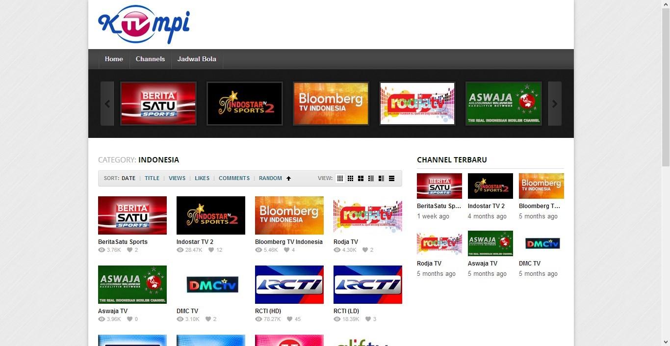 To daftar situs nonton tv online live terlengkap di indonesia