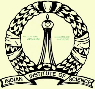 GATE 2016 Organising Institute - IISc Bangalore