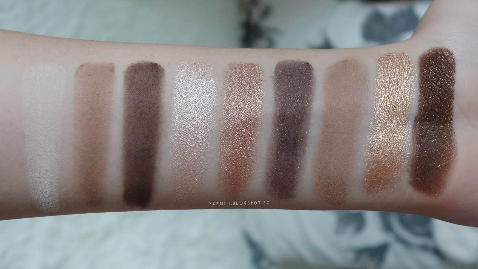 Too Faced Natural Eye Palette Swatches