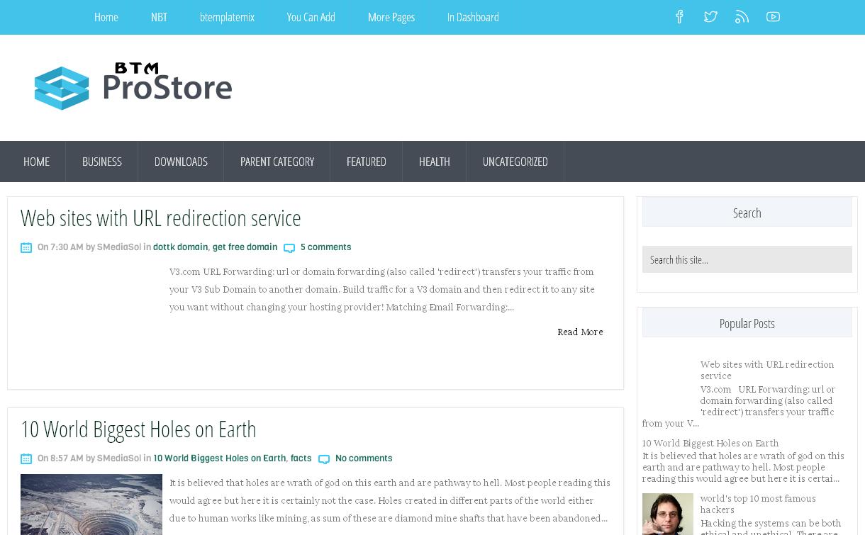 ProStore Blogger Template