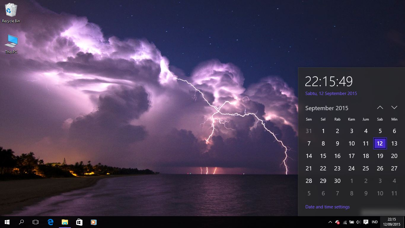 Lightning Theme For Wi...