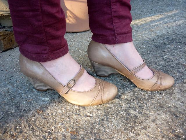 Marsala coloured skinny Jeans | Petite Silver Vixen