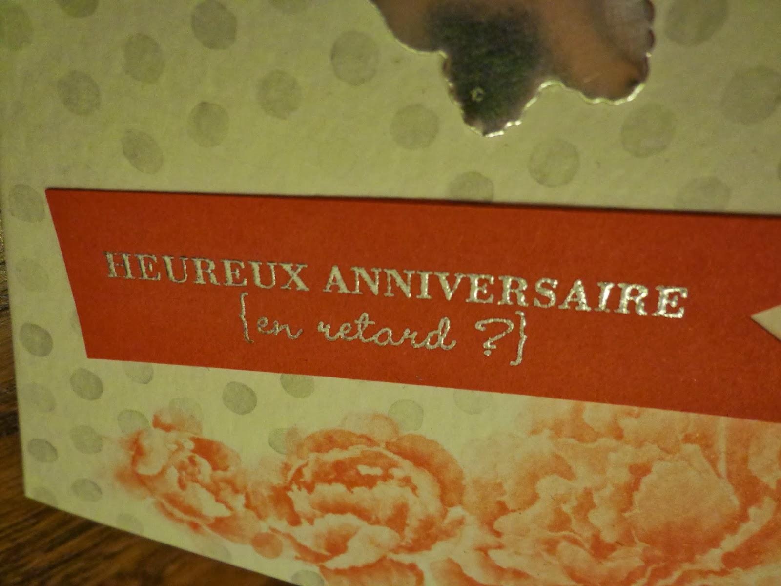 Muriel D Loisirs Creatifs Joyeux Anniversaire Sylvie