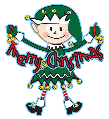 Merry Christmas title elf Xmas free download