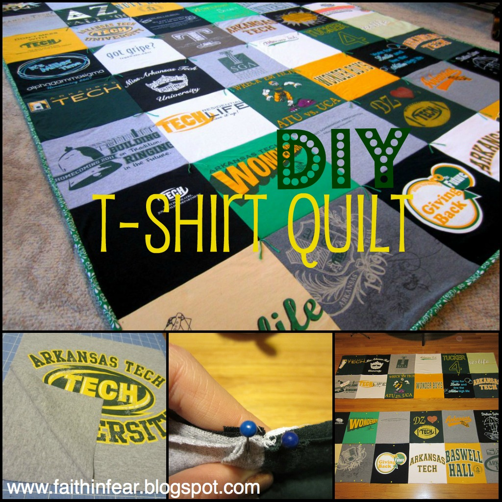 Faith in Fear: T-Shirt Quilt {Introduction} : instructions for t shirt quilt - Adamdwight.com