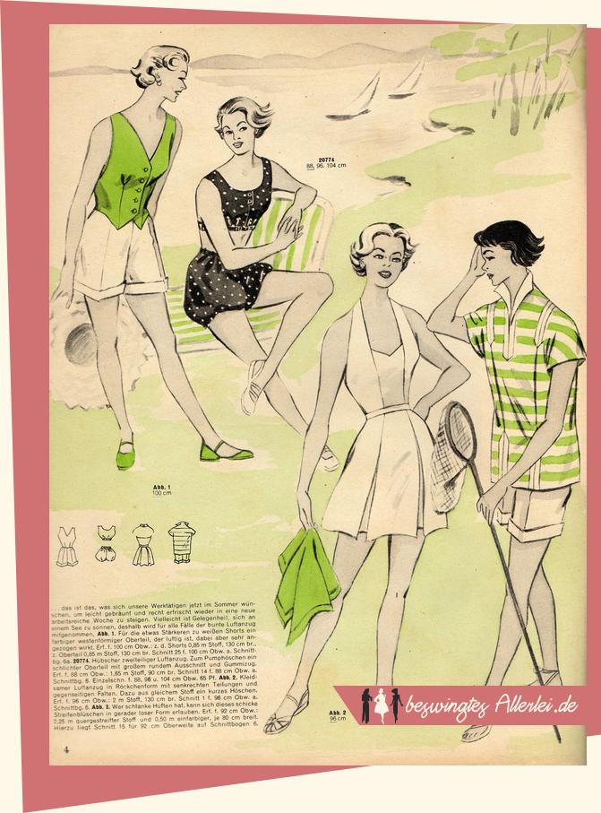 Mode für Strand und Freizeit