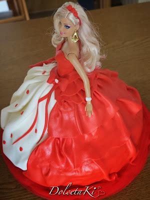 torta barbie vestito cuori