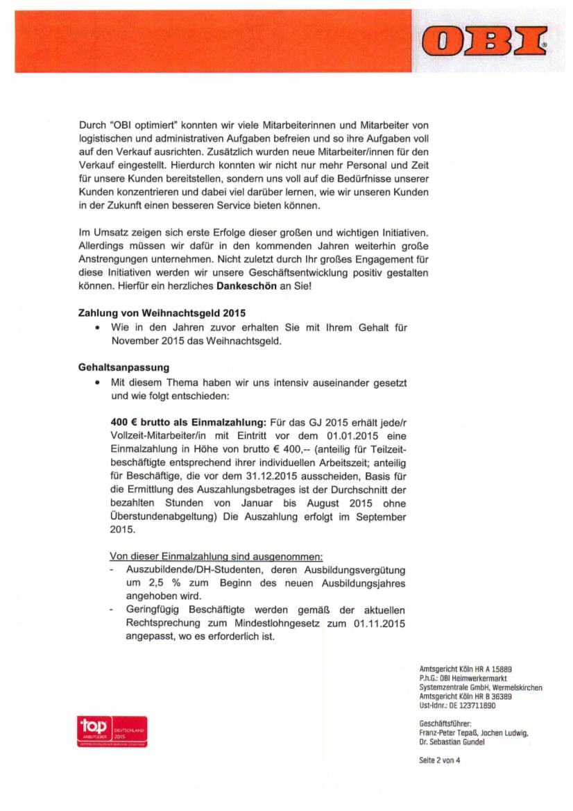 OBI - ver.di Infoblog: Der OBI Brandbrief