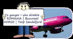 DIREKTEFLY ROMANIA - NORGE
