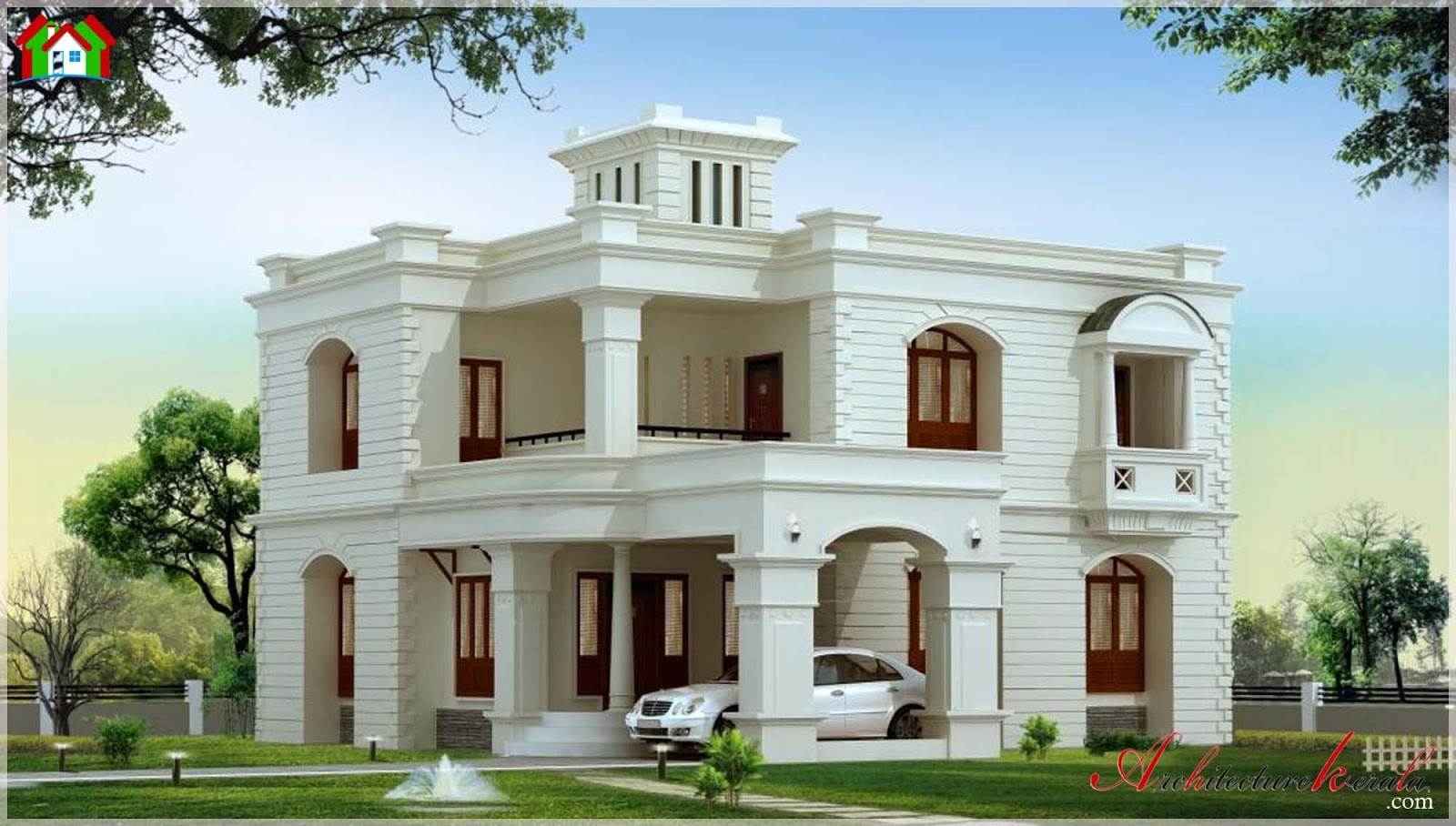 3000 square feet kerala house elevation architecture kerala for Architecture design kerala house