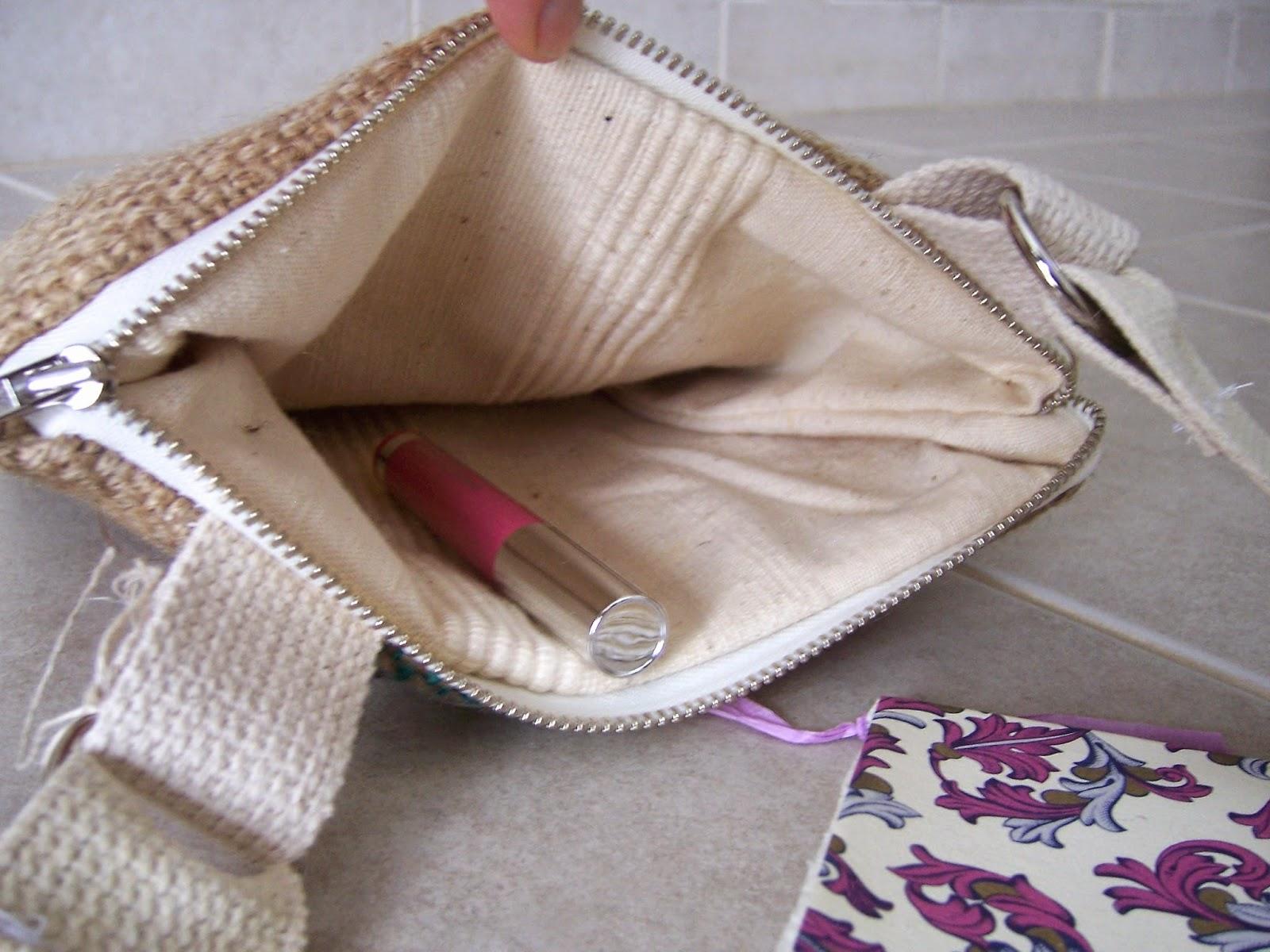 Jute Mills burlap bag inside - linaandvi.blogspot.com - Plymouth MI