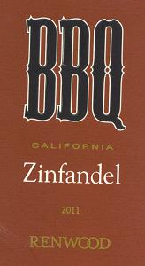 2011 BBQ Zinfandel label