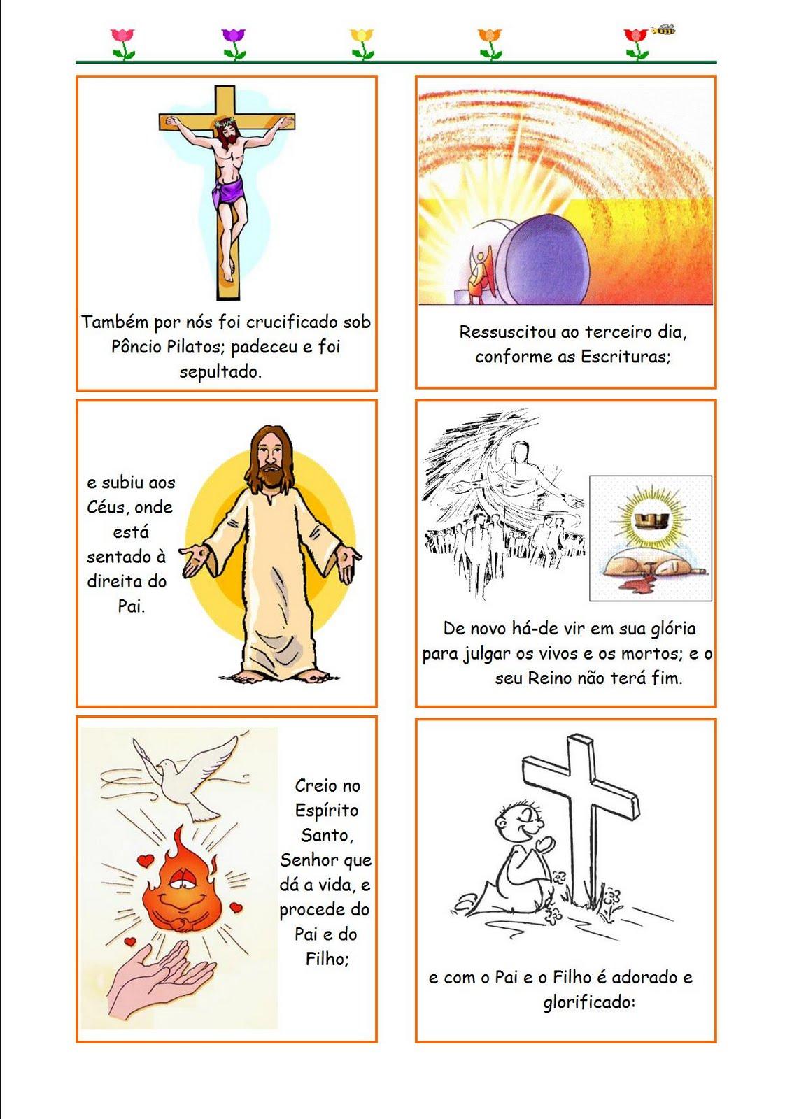 Muito Catequese com Carinho: Oração do Credo ilustrada AO29