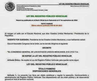 leyregistropublicodevehiculos el repuveconsulta 2014 2015