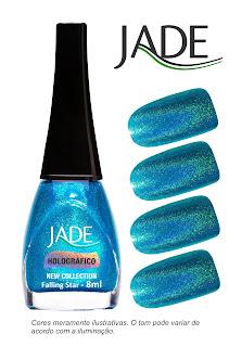 Coleção Esmaltes Jade Rainbow Effect Holográfico