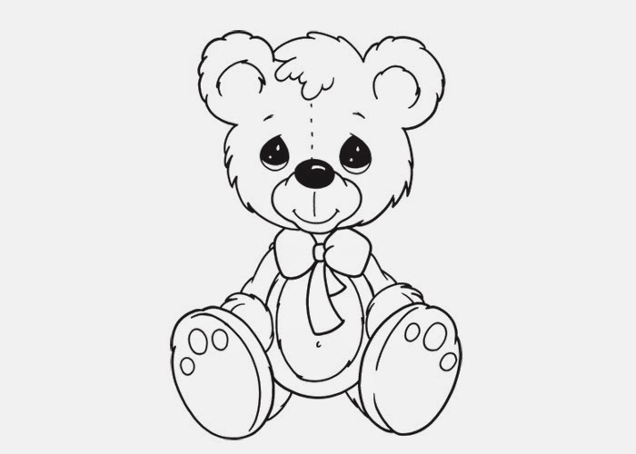 07 10 13 free coloring pages and coloring books for kids for Teddy coloring pages