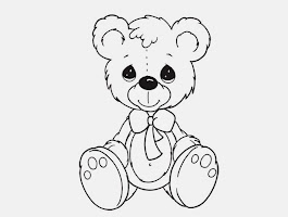 Teddy Bear With A Heart Coloring Pages
