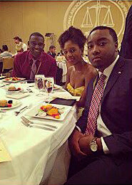 Members of the SHSU NABCJ enjoy dinner at the national conference.