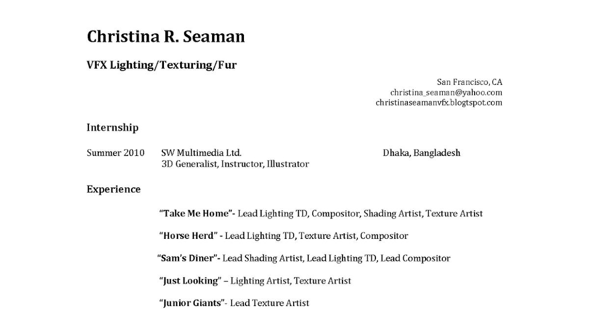 seaman resume