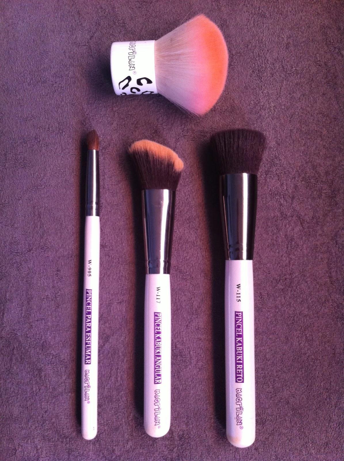pincel para maquiagem, macrilan, kabuki, pó, base, esfumar, sombra, blush, contorno