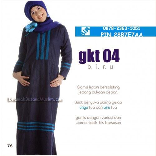 Gamis Sik Clothing GKT 04 Biru