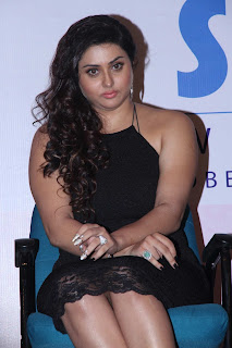 Namitha Latest Pictures in Short Dress at Shakshii Wellnness Press Meet  252838).jpg